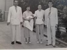 Uncle Andrew with Josephine and Joseph and Therese my parents
