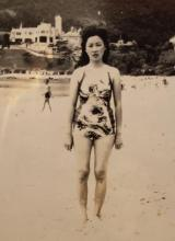 Uncle Andrew's wife Josephine (formerly Mrs Lui La Yin) at Repulse Bay