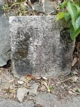 Ordinance marker stone on Jat's Incline
