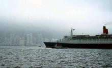 1984 - QE2 leaving Hong Kong