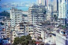 1979 - view from Harmony Court, Tai Hang Road