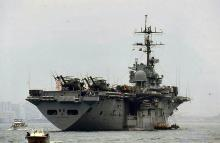 1986 - Victoria Harbour - US aircraft carrier