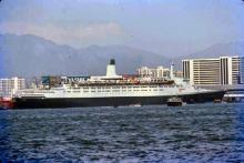 1979 - Queen Elizabeth 2 at Ocean Terminal