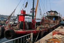 Wooden ship at Cheung Chau