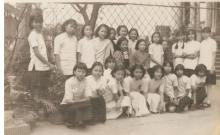 5   Mother and classmates (1937) back row first left