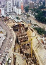 1977 MTR Admiralty Station construction site