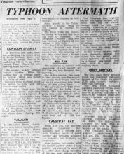 Typhoon Wendy 1957-newspaper report.