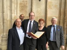 At Westminster with CWGC and Abbey staff 1Jun18.jpg