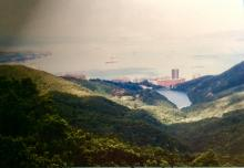 view from the Peak 1994 - Pokfulam Reservoir.