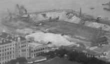 Building the dry dock at the Naval Dockyard