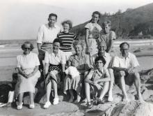 Beach Party - possibly at Big Wave Bay 1952