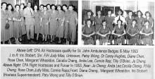 Cathay Pacific -Air Hostesses-including Margaret Wheeldon-May 1953