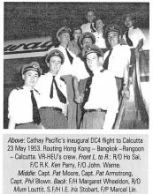 Cathay Pacific -Air Hostesses-including Margaret Wheeldon-1953