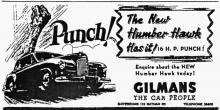 GILMANS-the Car People-Humber Hawk-the car with Punch!