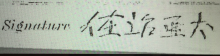 George Ah Kin signature.png