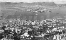 1951 View from the Peak over Central to Kowloon