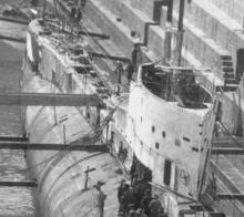 Front of submarine