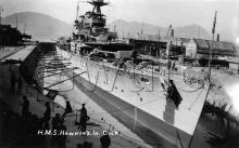 HMS Hawkins in the dry dock at Hung Hom