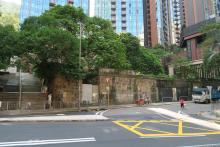Remains of old building at Junction of Dragon Road with Tin Hau Temple Road