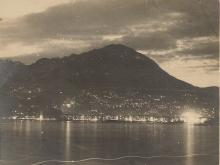 1920s-30s night view across Victoria Harbour