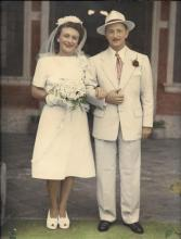 Wedding of Mr and Mrs Leo Landau 1946 at the Jewish synagogue Robinson Road Hong Kong