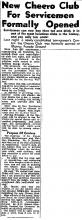 New CHEERO CLUB Formally opened-China Mail-15-12-1949