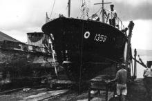 RAF Marine Craft-No 1359-on slipway-1946