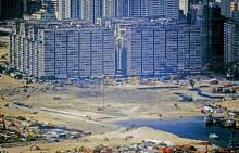 West Kowloon reclamation-Jordon-Road Ferry piers-area-being-reclaimed