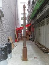 Possible gas lamp post on Yu Po Lane East