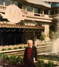 My father at Peninsula Hotel 60th anniversary 1988