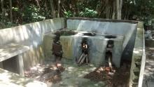 Remains of a kitchen in Hung Shek Mun