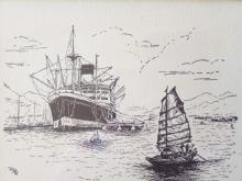 The Empire's  bus service. Blue Funnel ship unloading in harbour, which Greek mythological figure was she named after?