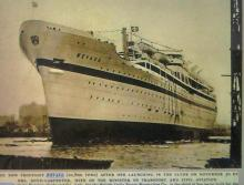 Launch of Troopship Nevasa  1955.