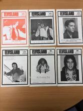Covers of ELVISLAND magazine from the 1970s
