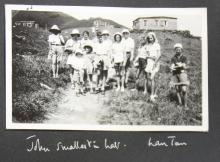 Group photo of holidaymakers staying in huts belonging to missionary societies on northern ridge of Lantau 2
