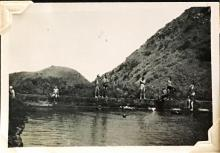 'The Swimming Pool', Sunset Peak, Lantau Island. August 1948. Copyright Crozier Family.
