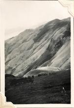 'The Everlasting Hills', taken close to Sunset Peak, Lantau Island. August 1948. Copyright Crozier family.