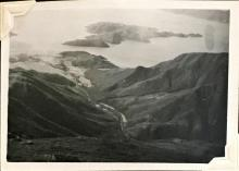 View from the Mess Shack, Sunset Peak, Lantau Island. August 1948. Copyright Crozier Family.