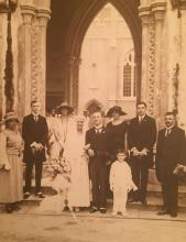 Marriage of CJ Endert and JGA Schabeck / Schabeek (Dutch), 8 September 1923