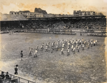 Scout Rally on Hong Kong Football Club Field, Year Unknown, c1950