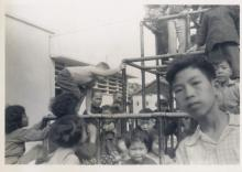Jungle Gym in Maple Street Playground, Kowloon - Can you see Christopher?