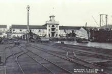 Kowloon Wharf-pier trolley tracks-circa 1926