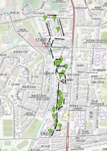 Map of Kowloon Tong walking route