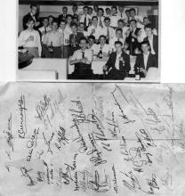 LSW C Watch Dinner Victors Restaurant 1954