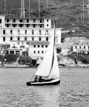 LSW dinghy off camp.