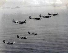 Last Spitfire Squadron based at Kai Tak c 1949 or 50.