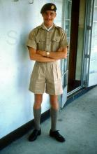 R.A.F. Little Sai Wan. Andrew in his k.d.uniform