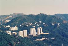 Mansfield Road Government Quarters from Mount Gough circa 1972.JPG