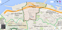 Map of Sai Ying Pun District, Victoria, Hong Kong