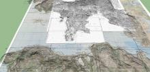 Contour created from old maps